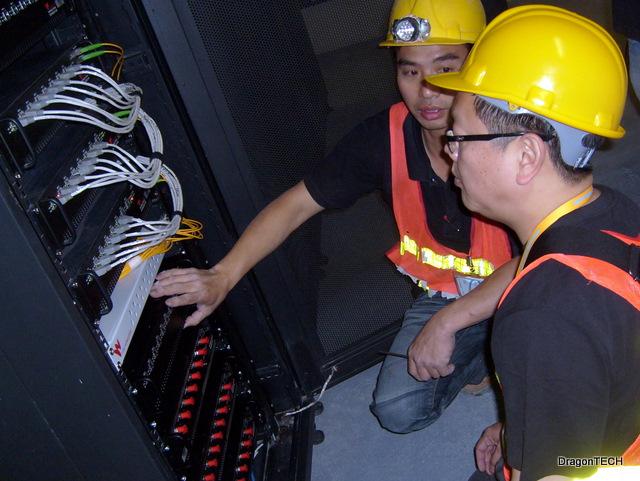 Team installing hubs